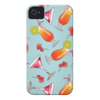 Kawaii tropical cocktail iPhone 4 covers