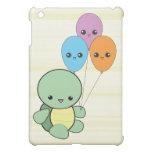 Kawaii Turtle with Balloons iPad case