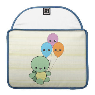 Kawaii Turtle with Balloons Macbook Pro Sleeve For MacBooks