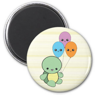 Kawaii Turtle with Balloons magnet
