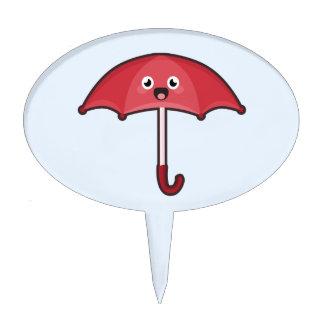 Kawaii Umbrella Cake Toppers