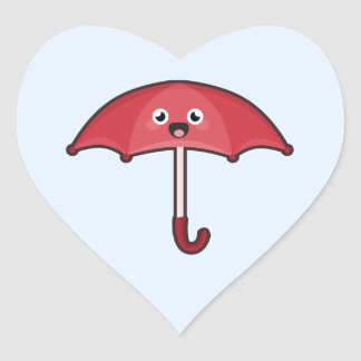 Kawaii Umbrella Heart Sticker