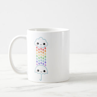 Kawaii Umbrella with Rain Coffee Mug