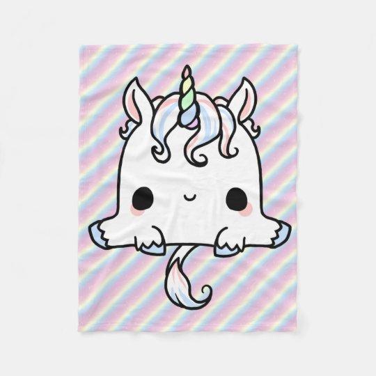 kawaii unicorn blanket zazzle com