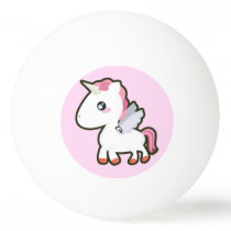 Kawaii Unicorn Ping Pong Ball