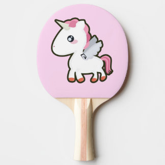 Kawaii Unicorn Ping Pong Paddle