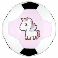 Kawaii Unicorn Soccer Ball at Zazzle