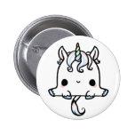 Kawaii Unicorn (You change the Background!) Pinback Button