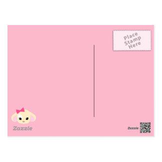 Kawaii Usagi-chan Pink Postcard