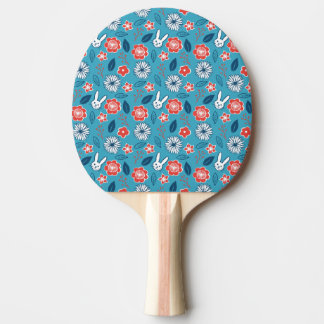 Kawaii Usagi Floral Pattern Ping-Pong Paddle