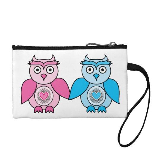 Kawaii Valentines Owls Coin Wallet
