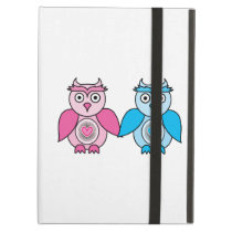 Kawaii Valentines Owls Cover For iPad Air