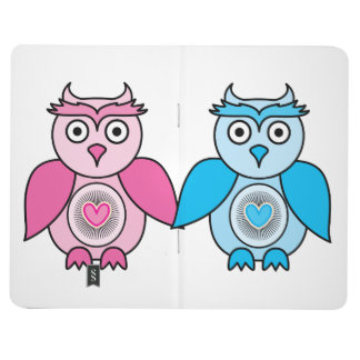 Kawaii Valentines Owls Journal
