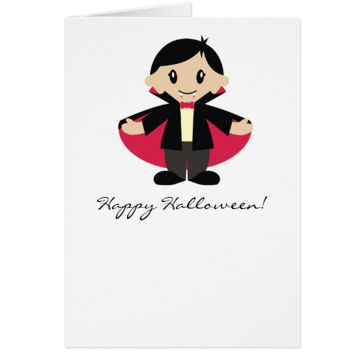 Kawaii Vampire Halloween Notecard Cards