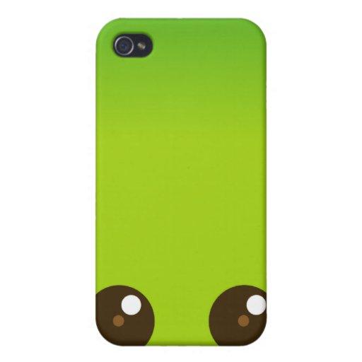 Kawaii verde hace frente iPhone 4/4S funda