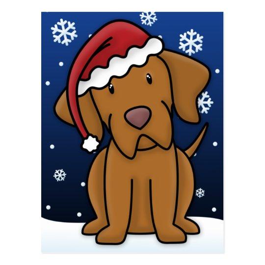 Kawaii Vizsla Christmas Postcard