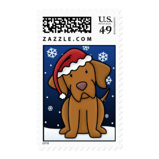 Kawaii Vizsla Christmas Stamps