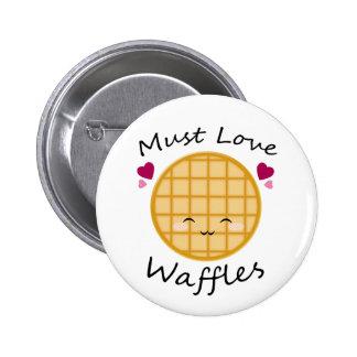 Kawaii Waffle Button