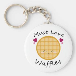 Kawaii Waffle Key Chains