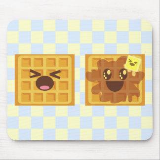 kawaii waffles good morning breakfast! mouse pad
