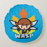 Kawaii Wasp Flying Round Pillow