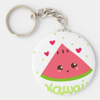 kawaii watermelon! basic round button keychain