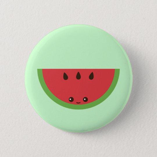 Kawaii Watermelon Button