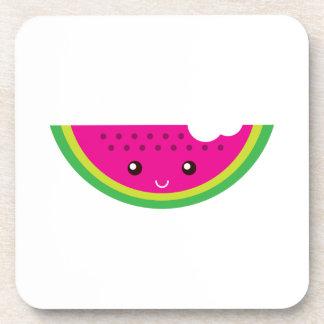 Kawaii watermelon coasters