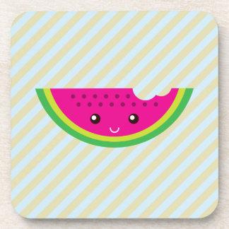 Kawaii watermelon drink coasters