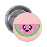kawaii watermelon cute happy face pins