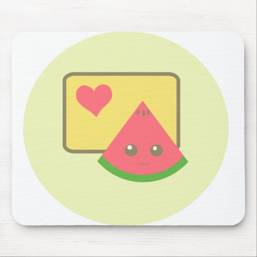 kawaii watermelon mousepad