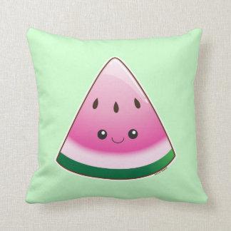Kawaii Watermelon Throw Pillows