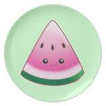 Kawaii Watermelon Plates