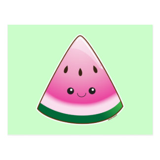Kawaii Watermelon Postcard