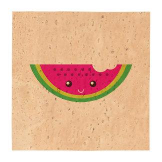 Kawaii watermelon drink coaster