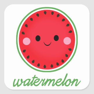 Kawaii Watermelon Square Sticker
