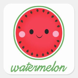 Kawaii Watermelon Square Sticker