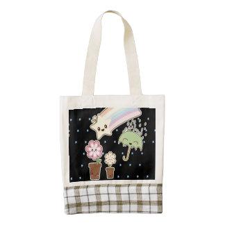 Kawaii weather garden so cute girly pattern zazzle HEART tote bag