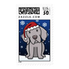 Kawaii Weimaraner Christmas Stamps