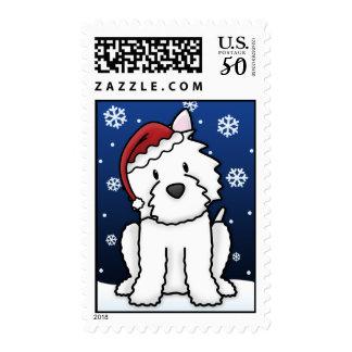 Kawaii Westie Postage Stamps