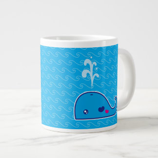 Kawaii whale giant coffee mug