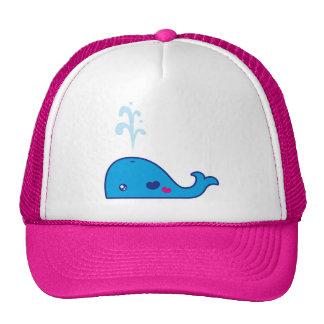 Kawaii whale trucker hat