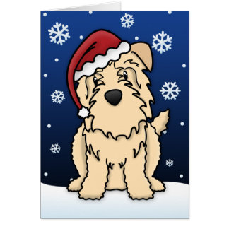 Kawaii Wheaten Glen of Imaal Terrier Christmas Card