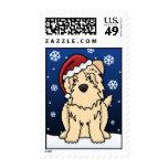Kawaii Wheaten Glen of Imaal Terrier Christmas Stamp