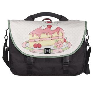 Kawaii Whipped Cream Kitty & Cherry Cake Laptop Bags