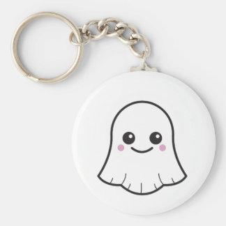 Kawaii white ghost keychain