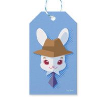 Kawaii White Rabbit Dapper Easter Bunny Gift Tags