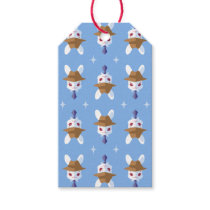 Kawaii White Rabbit Dapper Easter Bunny Pattern Gift Tags
