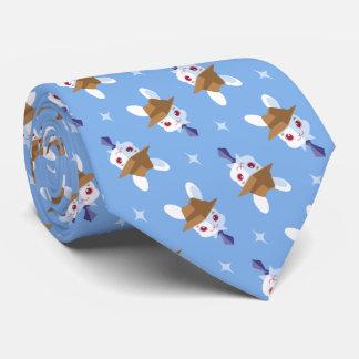 Kawaii White Rabbit Dapper Easter Bunny Pattern Tie