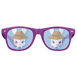 Kawaii White Rabbit Dapper Easter Bunny Retro Sunglasses